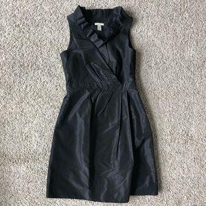 J.Crew size 2 black ruffle neck formal dress